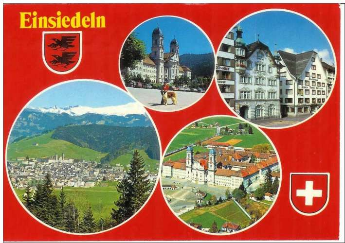 Cpsm Suisse - Einsiedeln , multivues , écrite et timbrée 1978