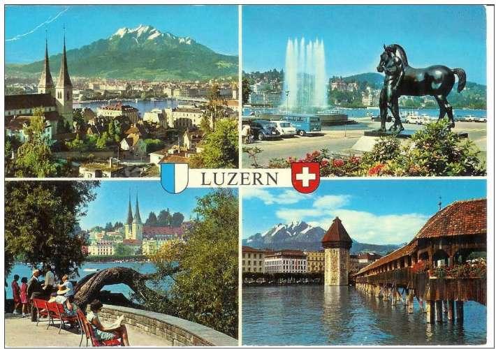 Cpsm Suisse - Luzern , multivues , non écrite