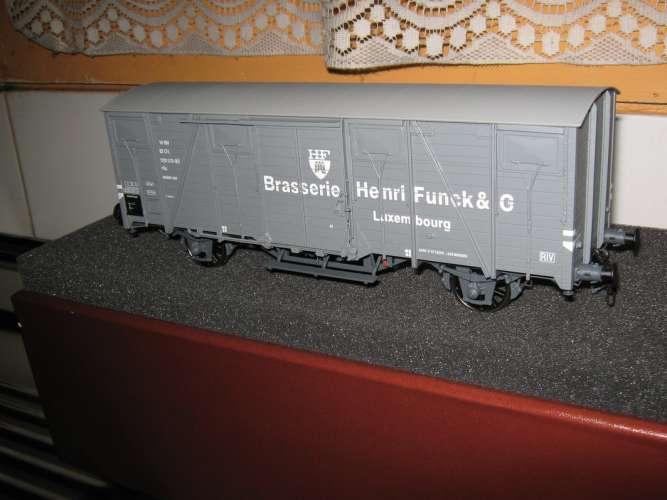 AMJL - Wagon couvert Standard Brasserie Henri Funck - Luxembourg - Echelle 0 - Epoque IV