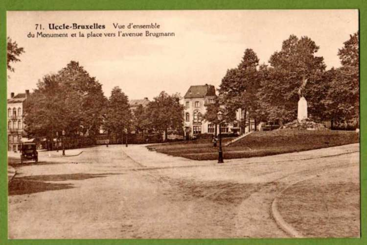 UCCLE - Vue d'ensemble du Monument et la place vers l'Avenue Brugmann ( 1180 Bruxelles ) Belgique