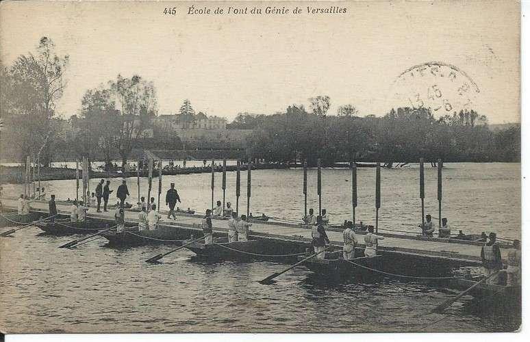 CPA - 78 - Versailles - Ecole de Pont du Génie - Dos scanné