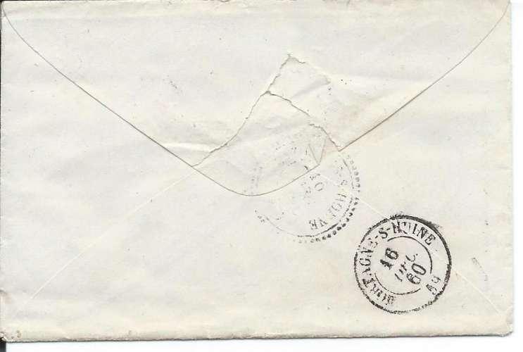 Napoléon 20 c - PC 3531 - Lettre avec correspondance - Verneuil - Bazoches - Mortagne - 1860