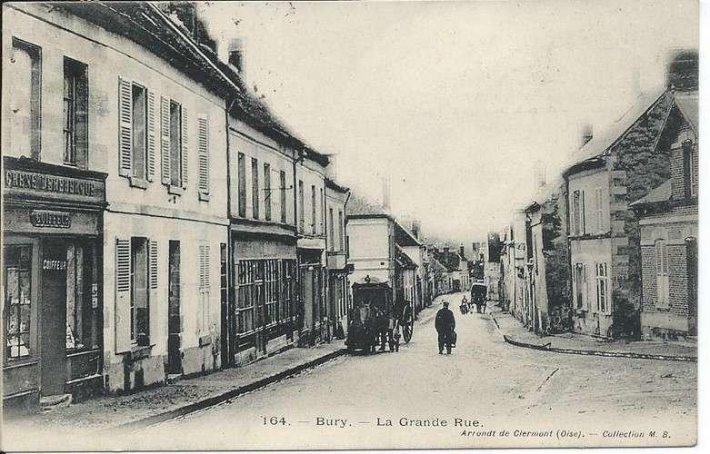 CPA - 60 - Bury - Grande Rue - Convoyeur Beauvais à Creil - 1905 - Dos scanné