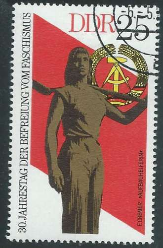 Allemagne - RDA - Y&T 1721 (o) - Femme volontaire -