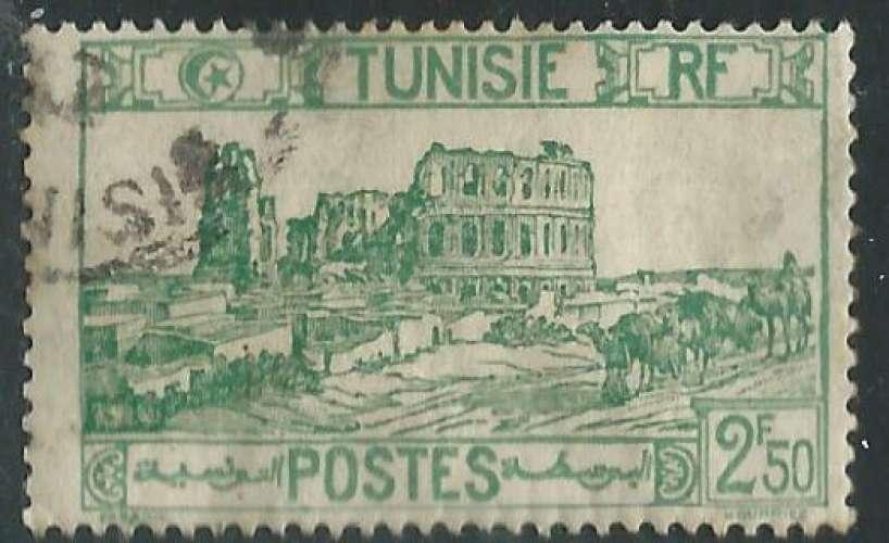 Tunisie - Protectorat Français - Y&T 0219 (o) - Amphithéâtre d'El Djem -