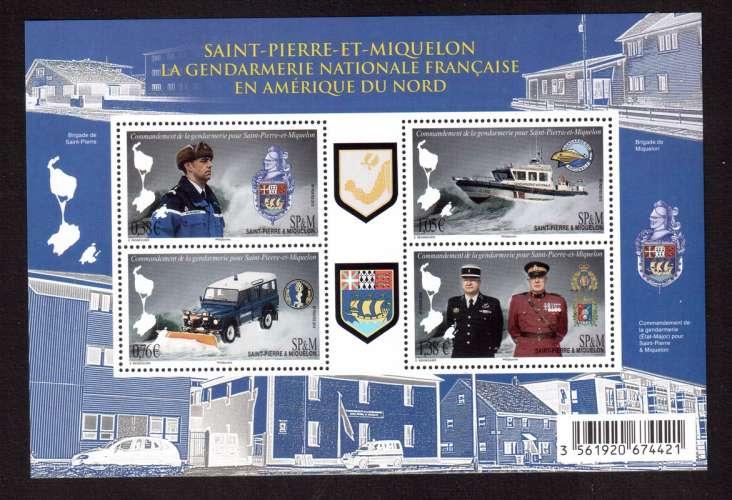 Saint Pierre & Miquelon 2015  bloc Y&T ** gendarmerie nationale française en Amérique du Nord