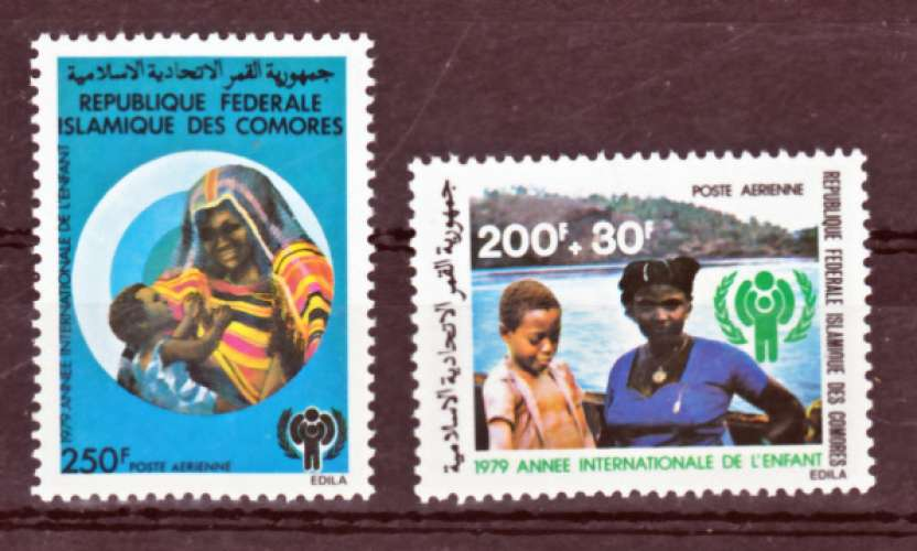 Comores PA 164 165 année de l'enfant  neuf **TB  mnh cote 7.8