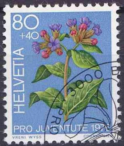 SUISSE 1976 oblitéré N° 1016 fleurs