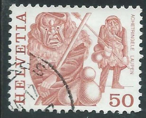 Suisse - Y&T 1038 (o) - Coutumes populaires -