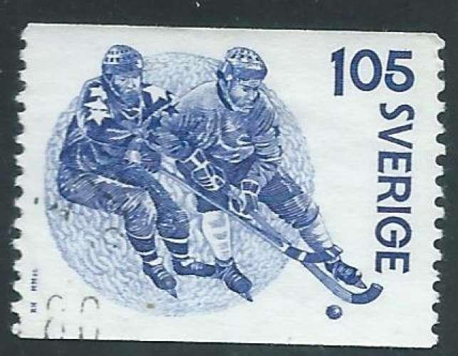 Suède - Y&T 1035 (o) - Hockey sur glace -