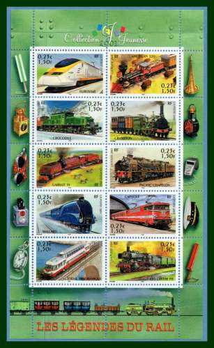 France BF 38 ** (MNH) Collection jeunesse Trains