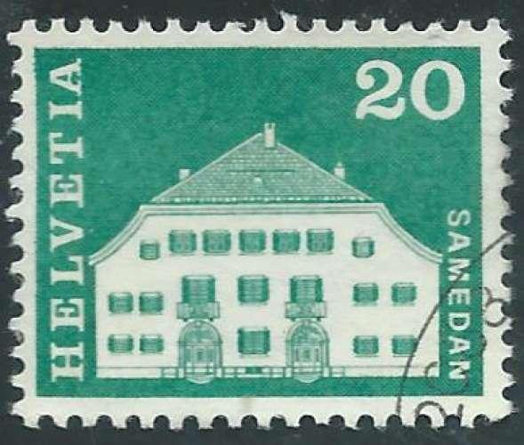 Suisse - Y&T 0818 (o) - Maison Planta -