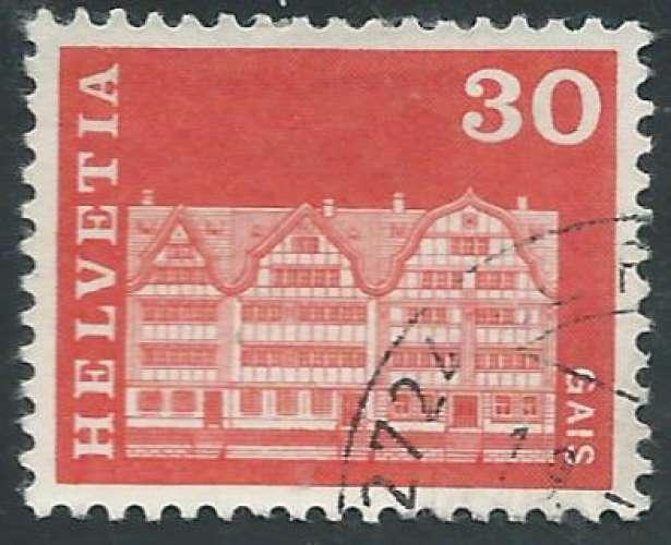 Suisse - Y&T 0819 (o) - Maisons -