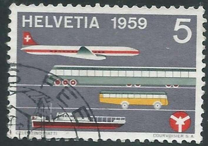 Suisse - Y&T 0621 (o) - Musée des transports -
