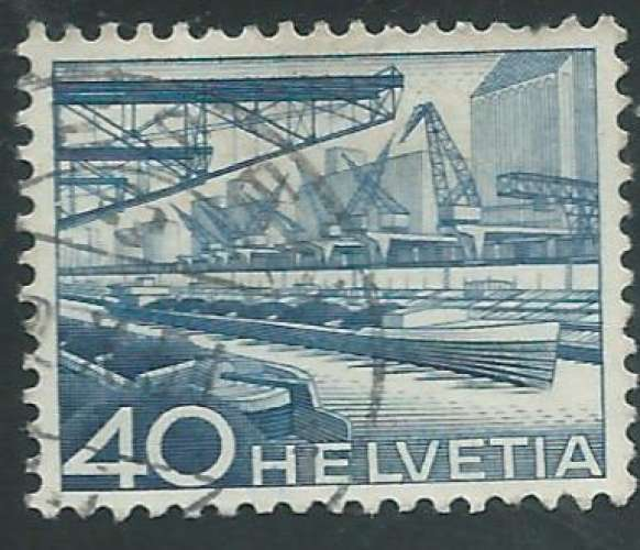 Suisse - Y&T 0489 (o) - Port fluvial -
