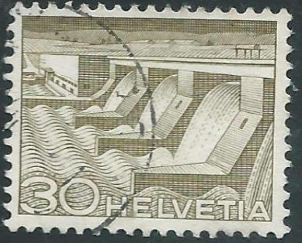 Suisse - Y&T 0487 (o) - Barrage -