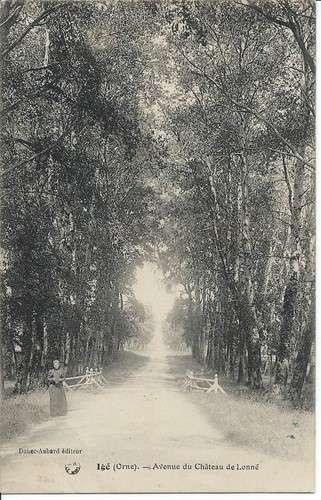 CPA - 61 - Igé - Avenue du Château de Lonné - 1915 - Dos scanné