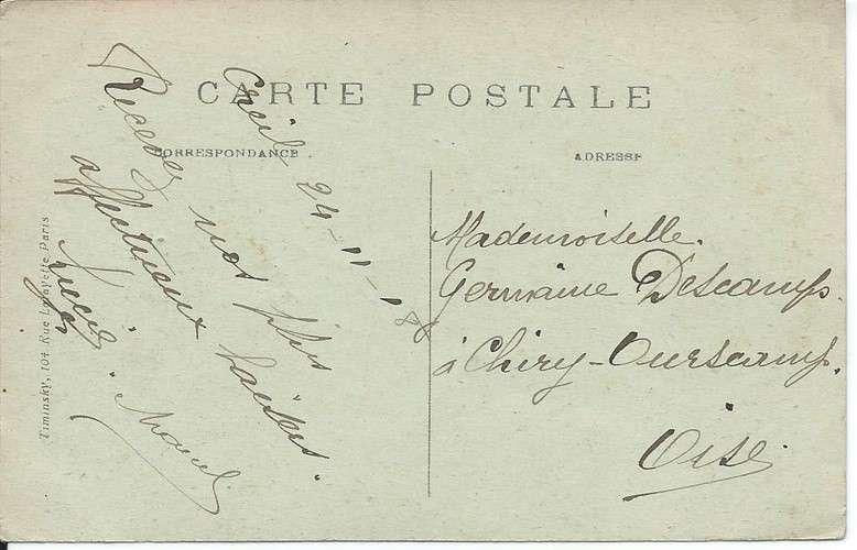 CPA - 60 - Creil - Souvenir - Multivues - 1918 - Dos scanné