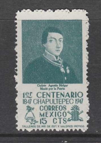 TIMBRE NEUF DU MEXIQUE - CENTENAIRE DE LA BATAILLE DE CHAPULTEPEC : AGUSTIN MELGAR  N° Y&T 623