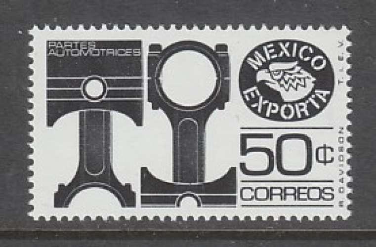 TIMBRE NEUF DU MEXIQUE - EXPORTATIONS : PISTONS N° Y&T 825E