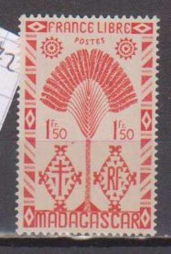 MADAGASCAR       N°  272  NEUF AVEC CHARNIERES      (08/16 )