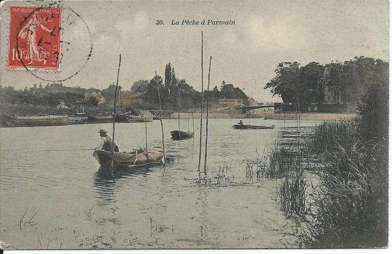 CPA - 95 - Parmain - Pêche à la ligne - Dos scanné