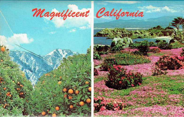 Magnificent CALIFORNIA : The Golden State - Dépliant 12 vues recto-verso