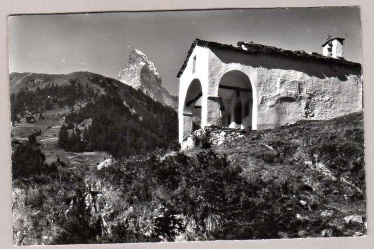 Suisse - Valais - Zermatt - Kapelle Blatten - Matterhorn ( 3 timbres au dos) chapelle