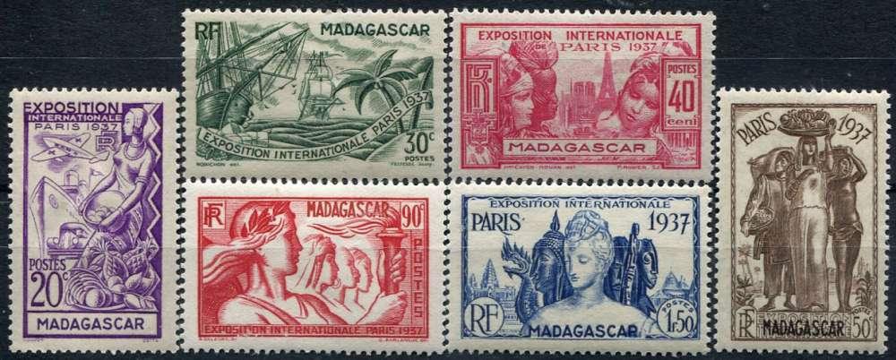 MADAGASCAR  _  Y & T  :   N°  193/198  *   -  Cote  :    11,50  €