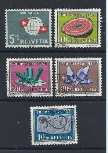 Suisse N° 625/29 Obl (FU) 1959 - pour la patrie