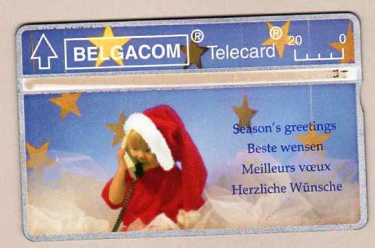 Telecarte Belgique - Belgacom - Season's greetings Beste wensen Meilleurs voeux phonecard Telecard