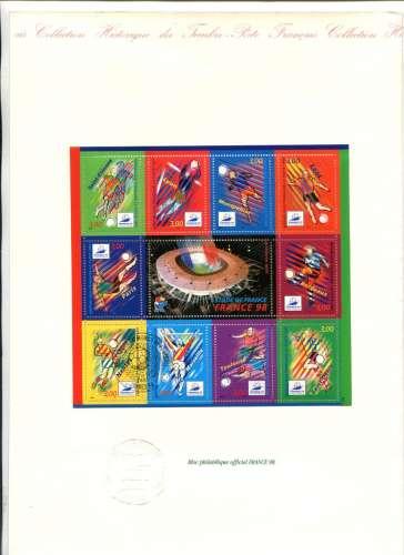 France - Bloc philatélique officiel France 98 - football
