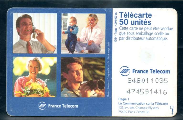 France F527 Voeux France Telecom  50U-GEM1 1994