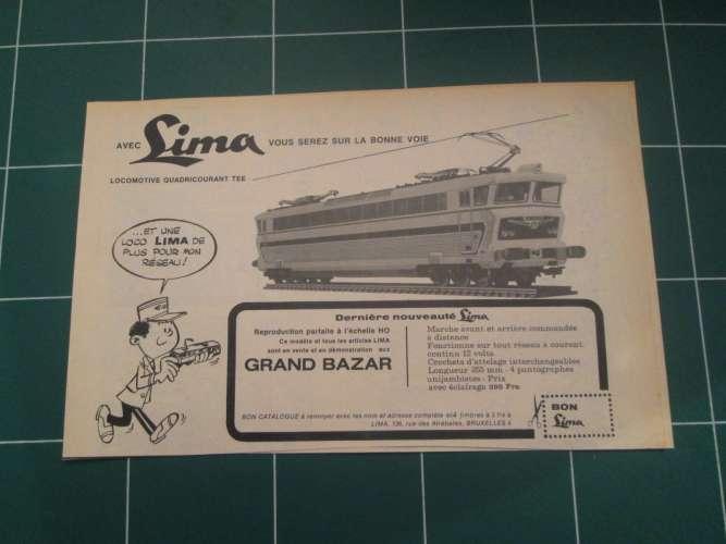 DIV415 : TRAIN MINIATURE LIMA HO -  Pour  collectionneurs ... PUBLICITE  page de revue des années 60
