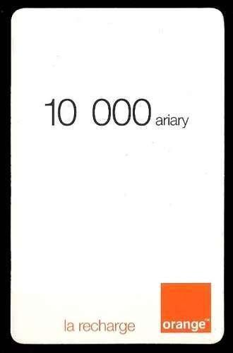 Madagascar - Carte prépayée - 10.000 Ariary - orange