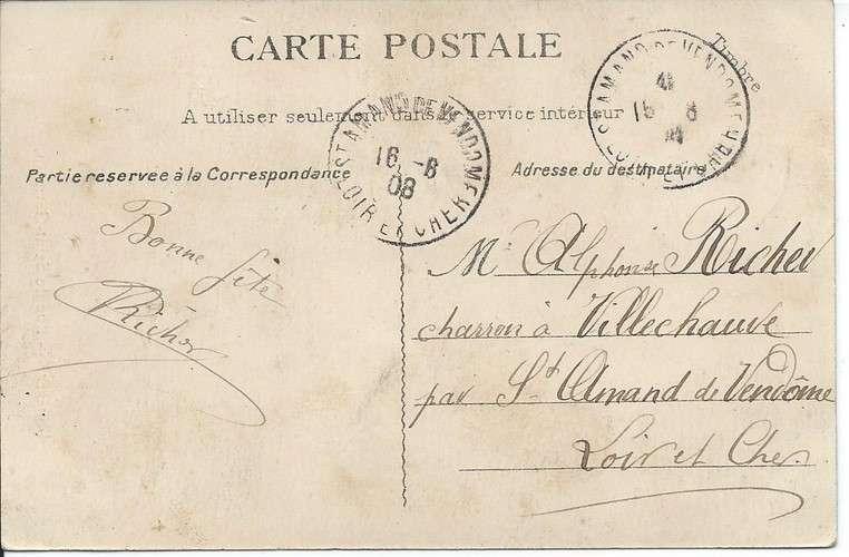 78 - Bouafle - rue de Saint-Germain - 1908 - Dos scanné