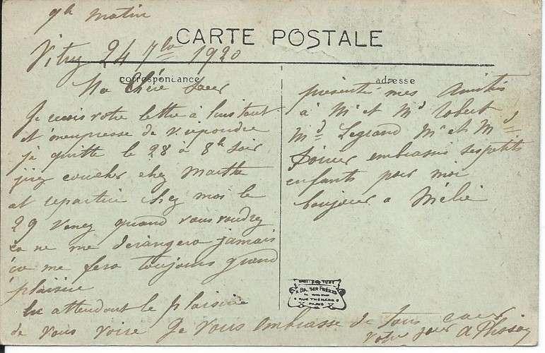 CPA - 94 - Choisy-le-Roi - Institution Garnier-Petermann - Récréation - 1920 - Dos scanné