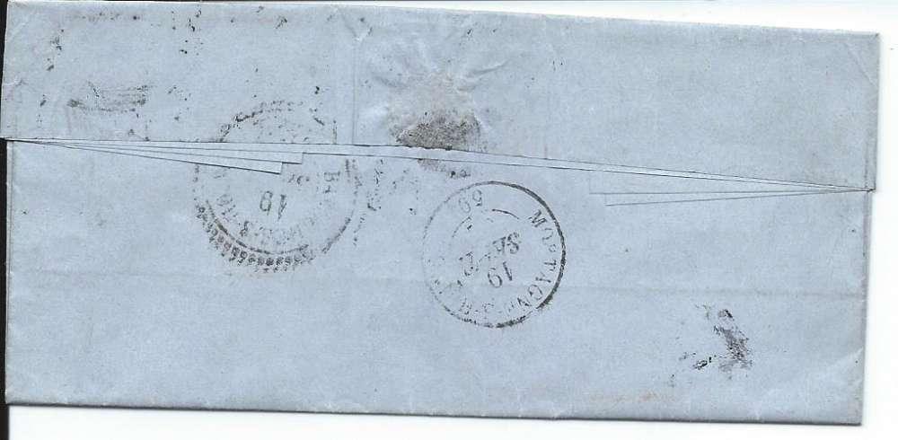 Napoléon 20 c - PC 1618 - Pli avec correspondance - l' Aigle - Bazoches - Mortagne - 1862