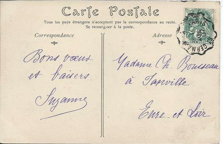 78 - Le Vésinet - Eglise - Convoyeur Saint-Germain à Paris - 1907 - Dos scanné