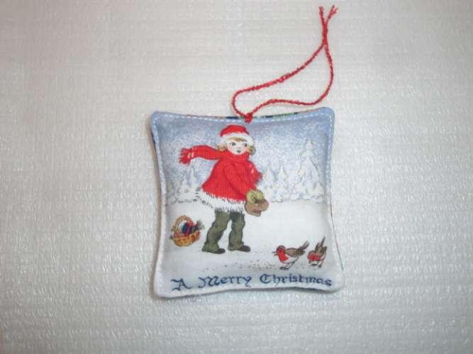 DECO SAPIN DE NOEL - PENDENTIF N° 6758 MERRY CHRISTMAS
