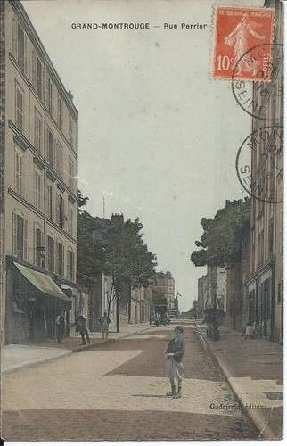 CPA - 92 - Grand-Montrouge - rue Perrier - 1916 - Dos scanné