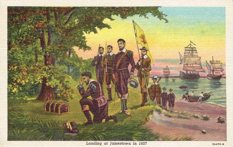 CPA  Landing at JAMESTOWN in 1607