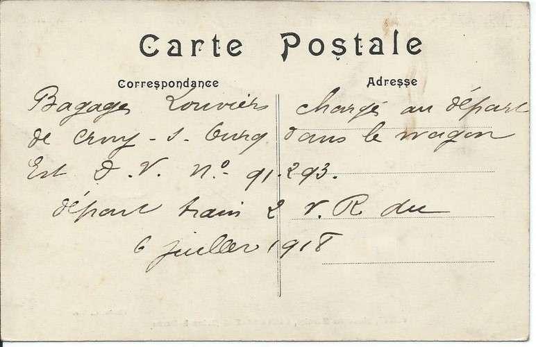 CPA - 77 - Coulommiers - Ameublements Tapisserie Venet - Place du Marché - Dos scanné