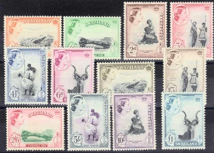 SWAZILAND N° 55 à 66 N** MNH Q EII