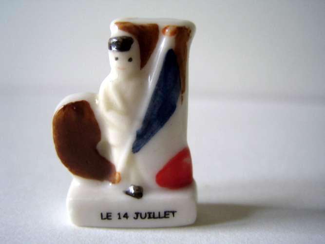 Fève brillante - La fève alphabet - J comme 14 Juillet