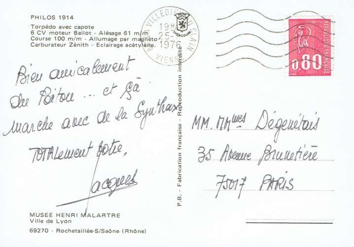 PHILOS 1914 ( Musée Henri Malartre - Lyon )