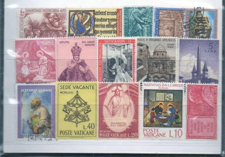 souvenir du vatican pieces 2001 et timbres (lot divers)