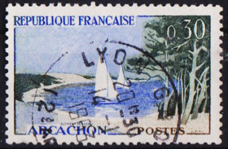 FRANCE 1961 -  Y&T N°1312 , Arcachon , oblitéré