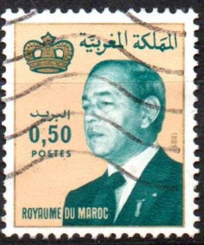 A693 - Y&T n° 912 - oblitéré - Hassan II - 1982 - Maroc