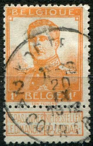 BELGIQUE  - Y & T  :  N°   116  (o)   Cote  :   3,30  €